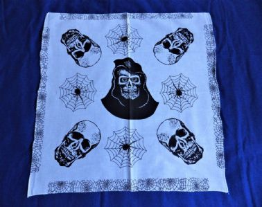 SKULLS WITH SPIDER WEB BANDANA